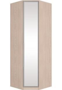 Guarda Roupa Modulado Canto Oblíquo 1 Porta Com Espelho Diamante Creme - Henn