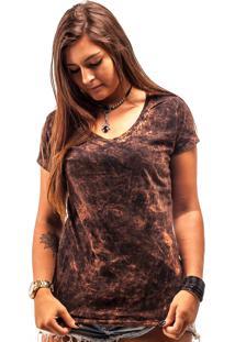 Camiseta Wanted Custom Marmorized Basic Preta