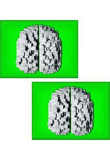 Jogo Americano Colours Creative Photo Decor - Cérebro De Pastilhas - 2 Peças