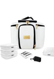 Bolsa Térmica Fitness Premium Couro Branco G