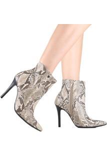 Bota Ankle Boot Via Marte Cano Curto 19-4355 Marrom