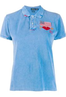 Polo Ralph Lauren Camisa Polo Com Bordado - Azul