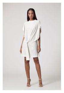 Vestido Curto Off Glitter Off White