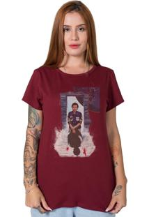 Camiseta Stranger Things Collage Bordô