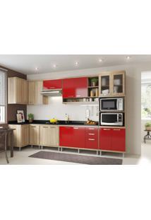 Cozinha Compacta Multimóveis Sicília 5831.132.815.694.610 Argila Vermelho Se