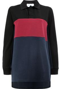 Koché Camisa Polo Color Block - Azul