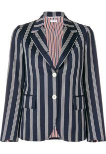 Thom Browne Repp Stripe Narrow Sport Coat - Azul