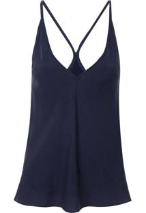 Regata Rosa Chá Debrun 2 Cupro Azul Feminina (Dress Blues, G)