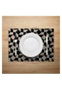 Jogo Americano 4Pçs Abstrato Bege - Mdecore