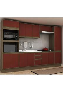 Cozinha Completa 6 Peças 13 Portas Safira Siena Móveis