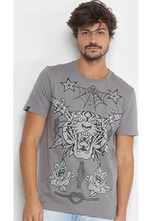Camiseta All Free Estampada Tigre Manga Curta Masculina - Masculino