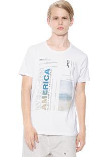 Camiseta Calvin Klein Jeans Western Branca
