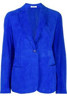 P.A.R.O.S.H. Blazer Slim Com Abotoamento Simples - Azul