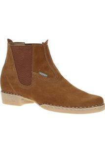 Bota Country Fazenda Boots Cano Curto Masculina - Masculino-Caramelo