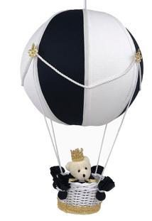 Lustre Balão Bolinha Urso Príncipe Marinho Quarto Bebê Infantil Menino