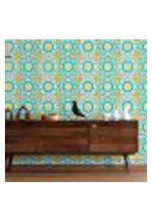 Papel De Parede Adesivo Amarelo Azul N09093 Rolo 0,58X3M