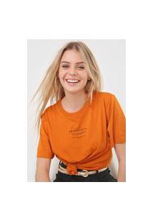 Camiseta Colcci Serendipity Laranja