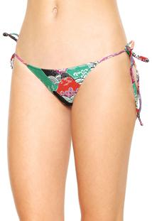 Calcinha Hope String Estampada Verde