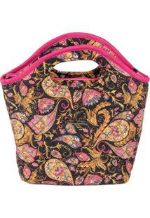 Bolsa Handbag Tecido Mão Forro Impermeável Prática Preto