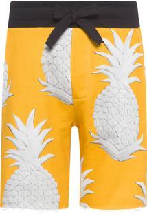 Bermuda Masculina Abacaxi Cut - Amarelo