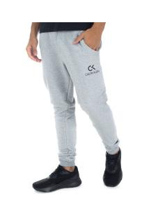 Calça De Moletom Calvin Klein Básica - Masculina - Cinza