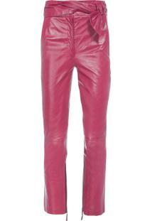 Calça Feminina Cropped Paloma – Vermelho