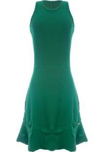 Vestido Aleatory Decote Gota Nas Costas Feminina - Feminino-Verde