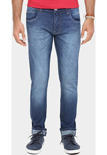 Calça Jeans Skinny Coca Cola Estonada Masculina - Masculino-Jeans