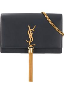 Saint Laurent Carteira Kate Com Tassel - Azul