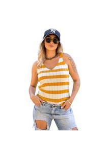 Blusa Tricot Úrsula Feminina Shopping Do Tricô Listrada