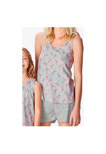 Pijama Feminino Curto Malwee 1000083364 Cinza