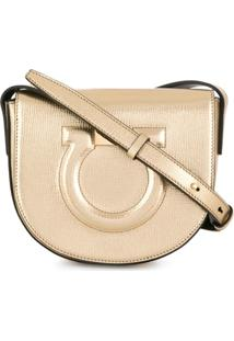 26410d881845c Bolsa Dourada Salvatore Ferragamo feminina