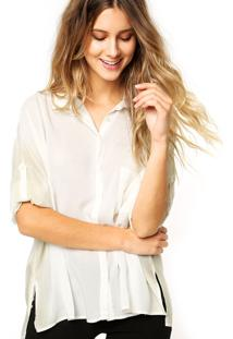 Camisa Manga Longa Calvin Klein Jeans Fenda Off-White