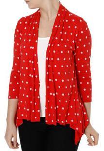 b970c0d5bb ... Blusa Autentique Com Sobreposição Feminina - Feminino-Vermelho
