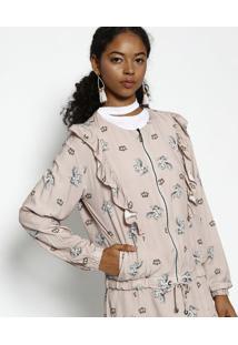 Jaqueta Com Babados- Rosê & Brancalez A Lez