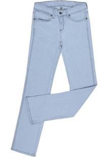 Calça Jeans Delavê Cowboy Cut Elastano Feminina - Feminino