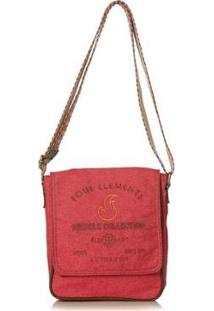 Bolsa Blue Bags Tiracolo Reciclada Bordado Água Feminina - Feminino-Vermelho