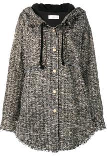 Faith Connexion Oversized Tweed Jacket - Preto