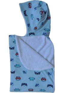 Toalha De Banho Bebê Com Capuz Dupla Colo De Mãe Super Hero