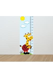 Adesivo Régua De Crescimento Girafa Flamenguista (0,50M X 1,50M)
