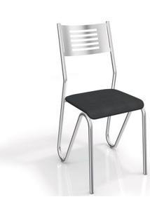 Cadeira Kappesberg Nápoles 2C045Cr (2 Uni) Cromada/Preto