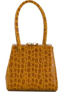 Little Liffner Mademoiselle Croc-Effect Bag - Marrom
