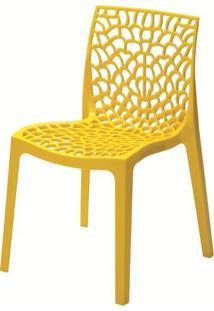 Cadeira Gruver Polipropileno Amarela