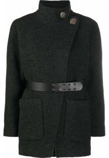 Ba&Sh Calvi Belted Wool Jacket - Cinza