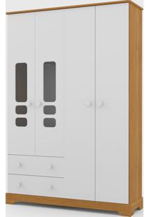 Roupeiro Smart 4 Portas Freijã³ / Branco Soft - Branco - Dafiti