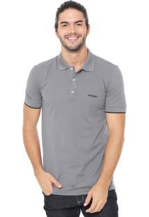 Camisa Polo Wrangler Logo Cinza