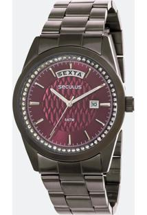 Relógio Feminino Seculus 35002Lpsvss4 Analógico 5Atm
