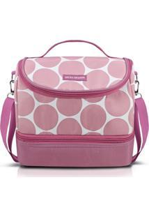 Bolsa Térmica Com 2 Compartimentos Jacki Design Dots Rosa