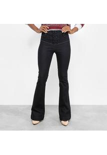 c593bb027 ... Calça Jeans Flare Maria Filó Botões Cintura Alta Feminina - Feminino- Jeans
