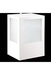 Arandela Externa Em Alumínio Branco